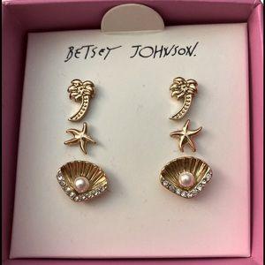 NWT Betsey Johnson Tropical Stud Earrings Orig $25